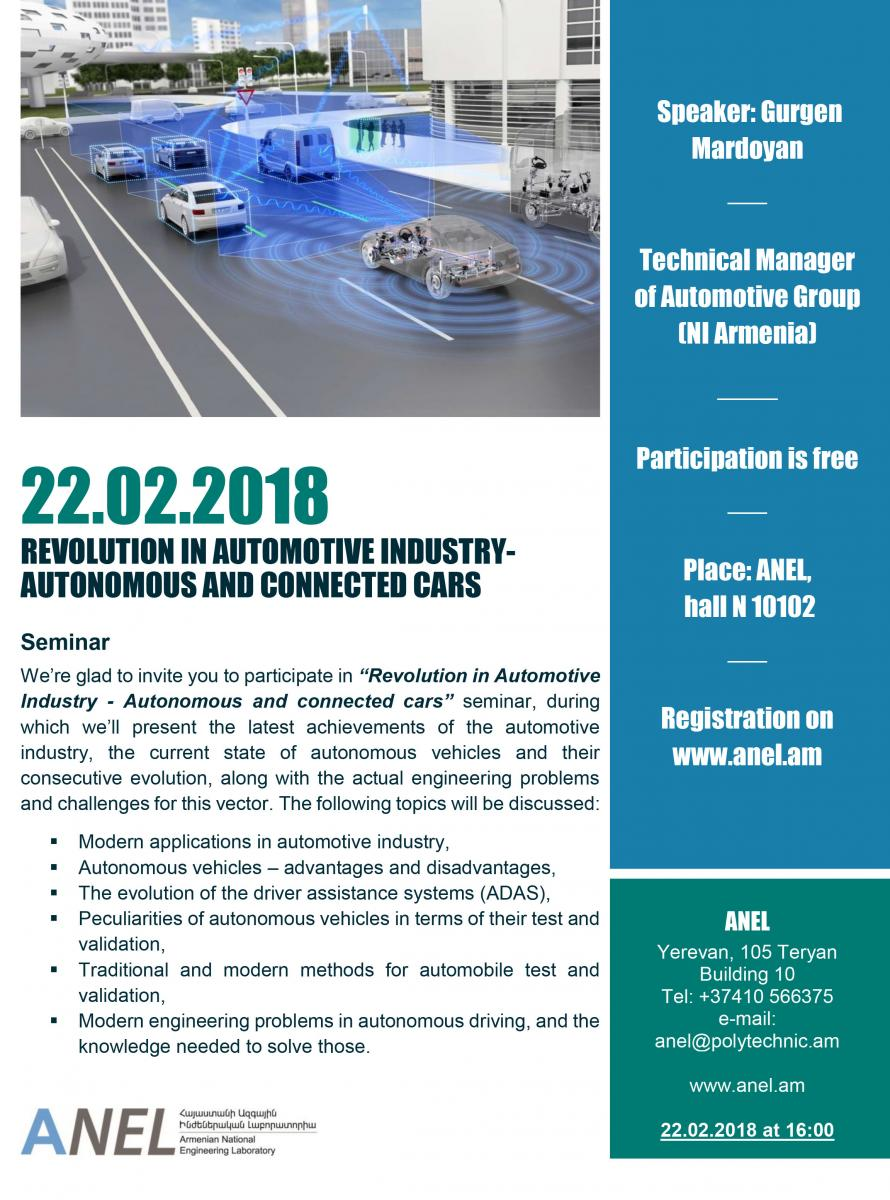Revolution in Automotive Industry - Autonomous and connected